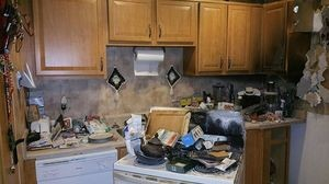 Fire Damage In An Apartment Unit