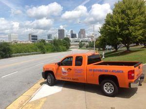 911 Restoration Fort Worth Truck Departing Job Site