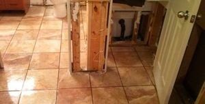 Water and Mold Damage Restoration In Bathroom
